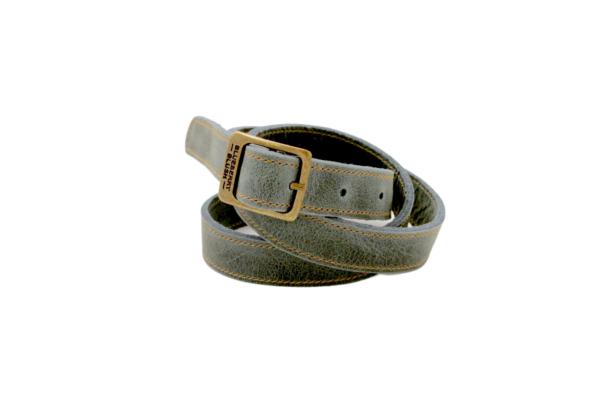 Ladies Narrow Denim Leather Belt