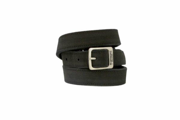 Ladies Narrow Black Suede Belt