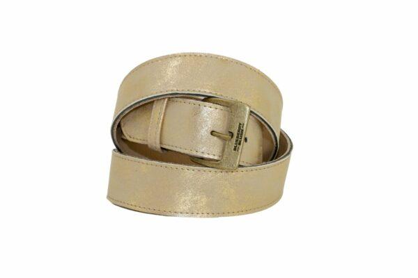 Ladies Broad Antiqued Gold Belt