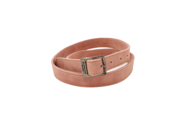 Ladies Narrow Rose Leather Belt