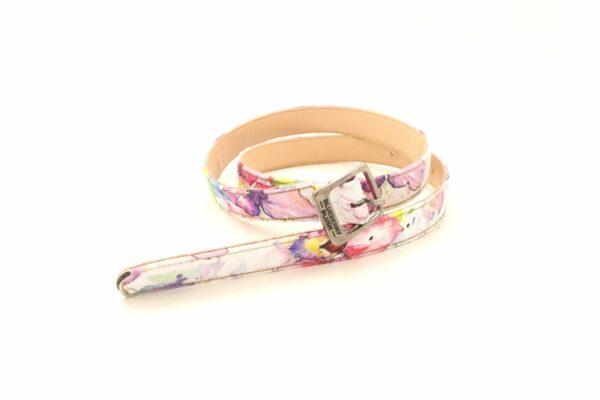 Ladies Narrow Floral Belt