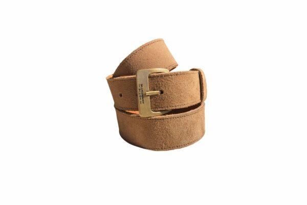 Ladies Broad Mink Suede Leather Belt