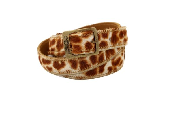 Ladies Narrow Giraffe Belt